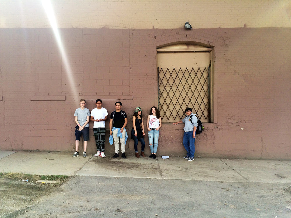 Some of the students of Escuela Verde who participated in our workshops and collaborated with us on the mural.